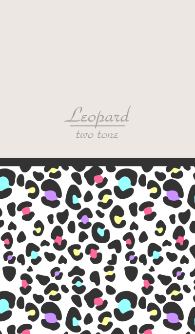 Leopard Two tone colorful WV