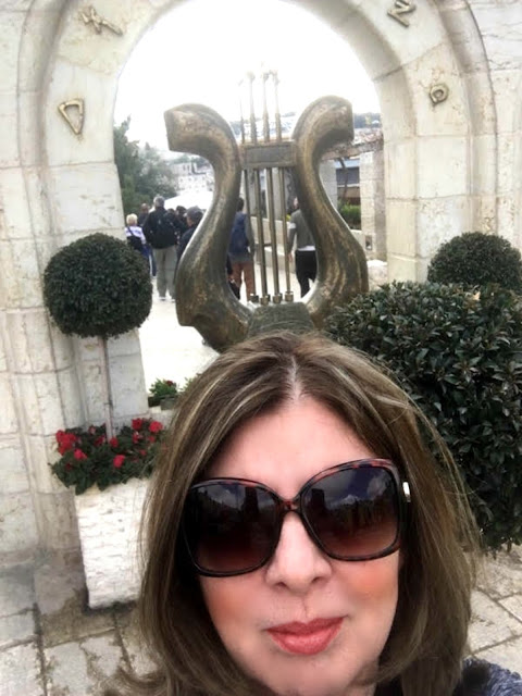 Debbie at the City of David in Israel