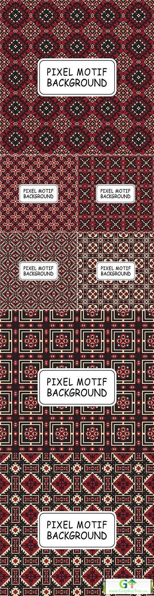 Pixel motif design decorative background