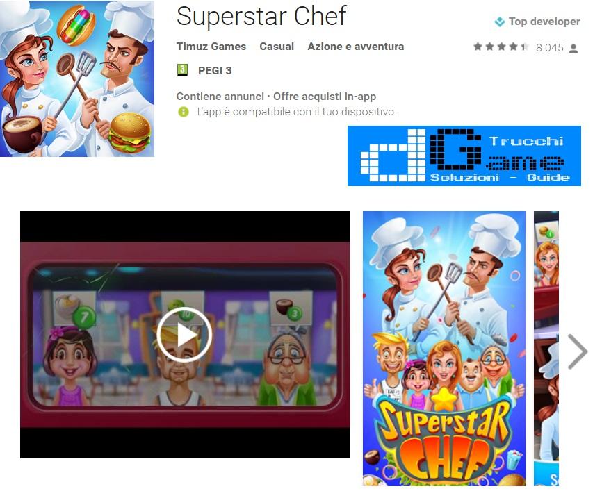 Trucchi Superstar Chef Mod Apk Android v102.1