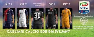 Kit Cagliari Calcio Kappa [2015-2016] Pes 2013