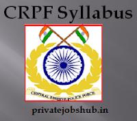 CRPF Syllabus