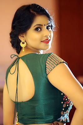 Indian Actress Sai Krupa In Blouse Closeup Photo