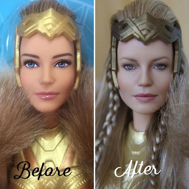 13 bonecas que receberam maquiagem realista (Imagem: Reprodução/Olga Kamenetskaya)