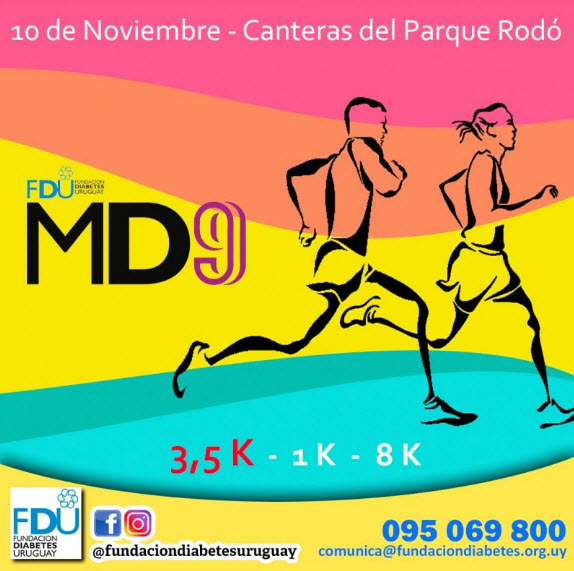 8k 3,5k 1k Movida de la Diabetes (Canteras del parque Rodó - Montevideo, 10/nov/2018)