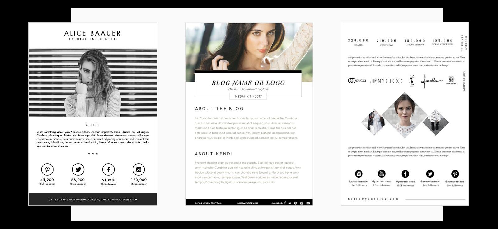 Cómo diseñar un media kit para influencers
