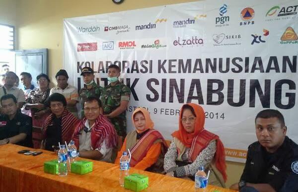 Aksi Cepat Tanggap ACT Sinabung