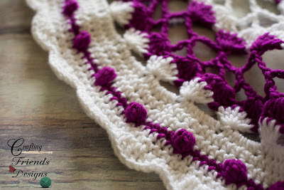 Trellis Waves crochet pattern by Crafting Friends Designs