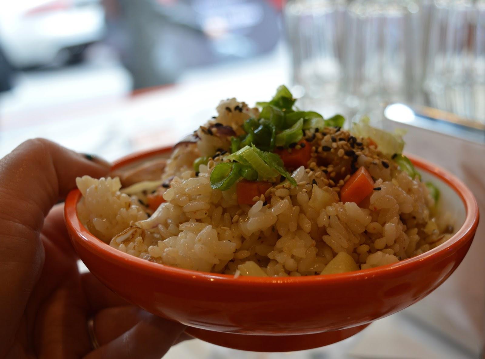 YO! Sushi Newcastle Grainger Street - Kids Menu Review - chicken rice bowl
