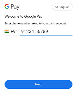 Verify phone number on Google Pay