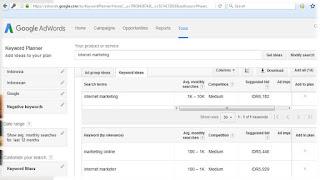 Tampilan Data Pencarian Google Keyword Planner Berubah