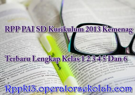 RPP PAI SD Kurikulum 2013 Kemenag
