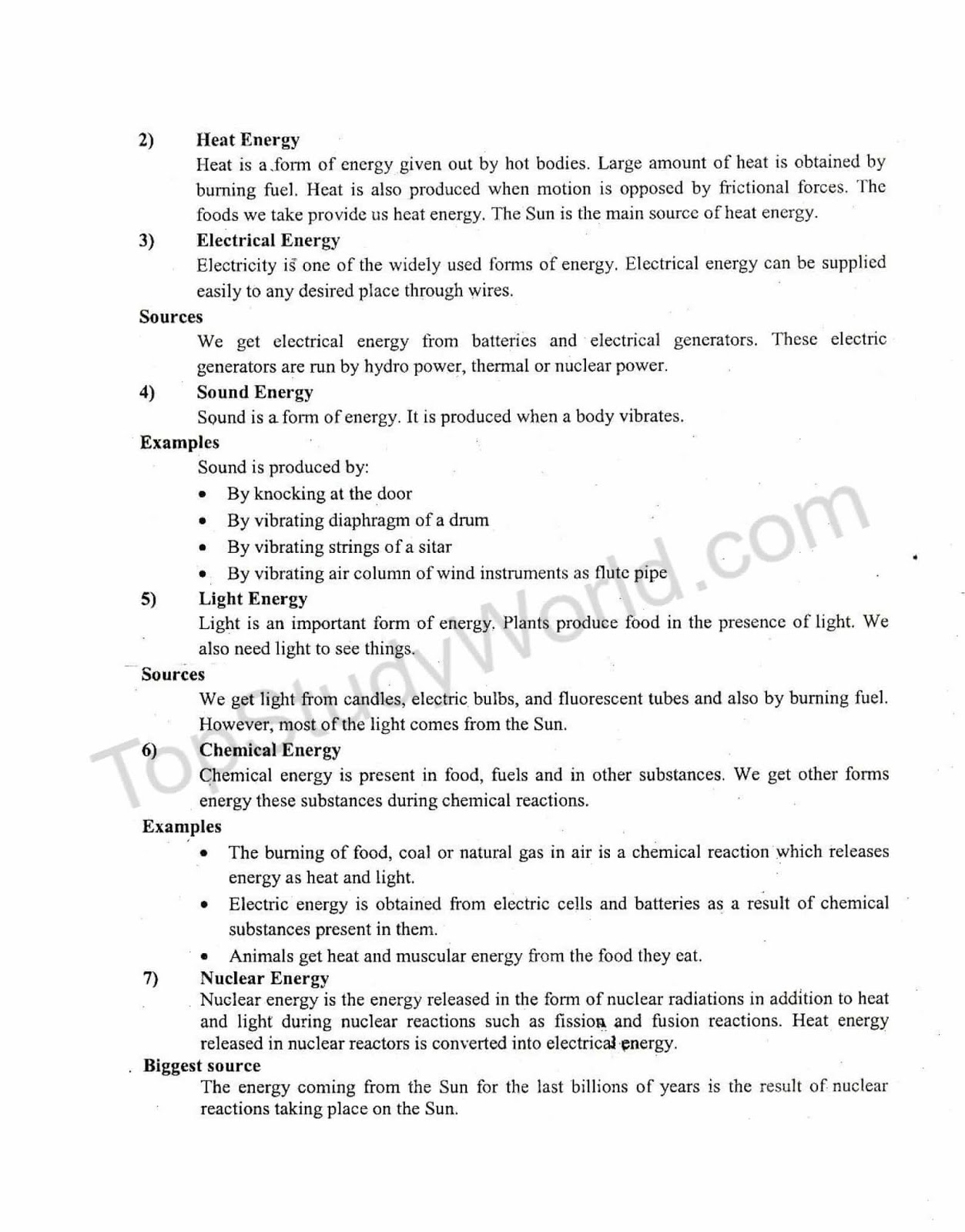 KIPS 9th Class Physics Notes for Ch# 6 Work and Energy (With PDF