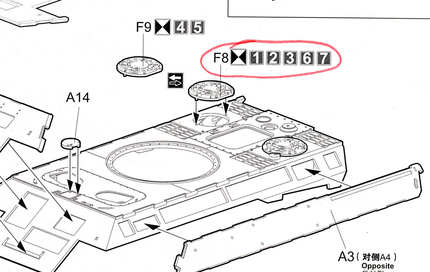 it s a good idea to choose the version you want to build at the start then highlight the correct parts in the instructions  [ 1500 x 949 Pixel ]
