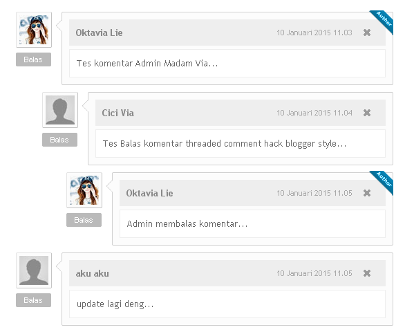 Cara Modifikasi Threaded Comment Hack Style Blogger