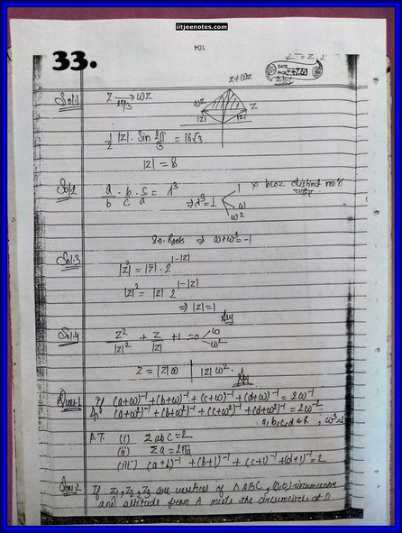 IITJEE Competition Notes On Complex Number 33