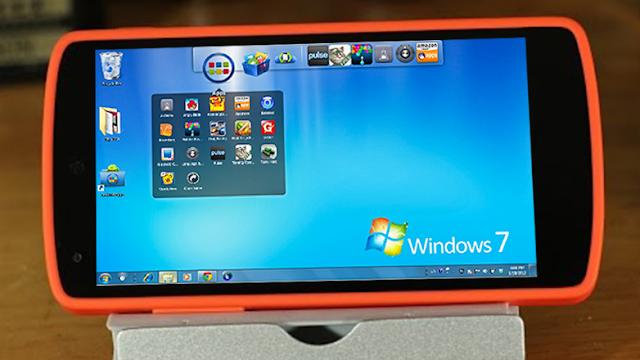 تطبيق رائع لتشغيل ويندوز 7 بالكامل على هاتفك بدون روت