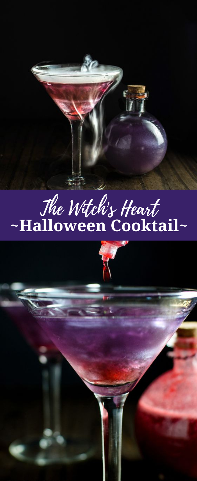 The Witch's Heart – Halloween Cocktail #Drinks #PartyDrink