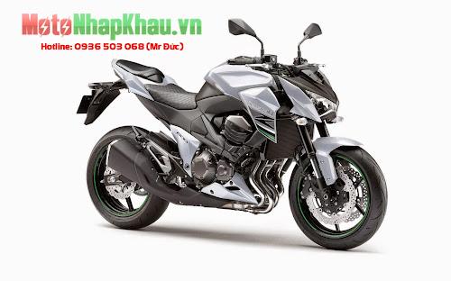 Kawasaki Z800 ABS 2015 màu trắng