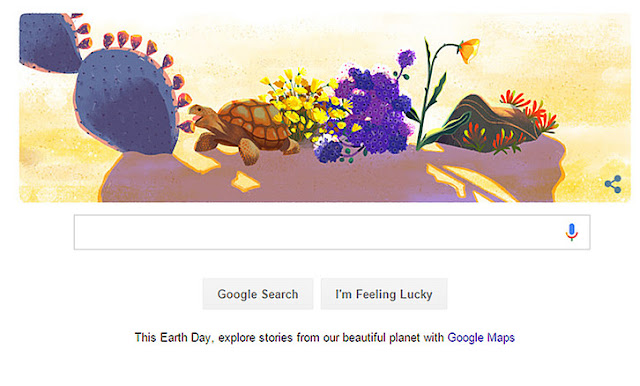 Google Doodle Earth Day 2016 Tanggal 22 April