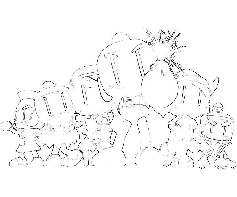 Bomberman coloring pages ~ Bomberman Bomberman Friends | Mario