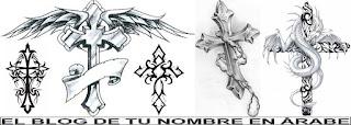 Cruces en blanco y negro para tatuajes