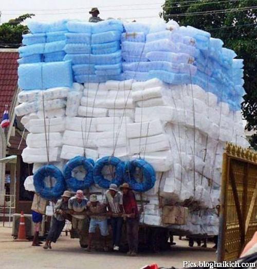 Hình ảnh vui về những chiếc xe siêu trọng tải