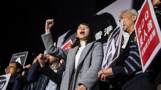 Hong Kong protest censures activist's election ban