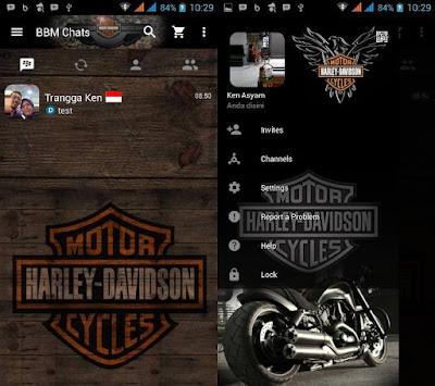 BBM Mod Harly Davidson