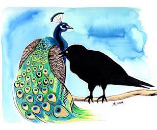 Cerita Rakyat Bahasa Inggris : Crow and Peacock | www.belajarbahasainggris.us