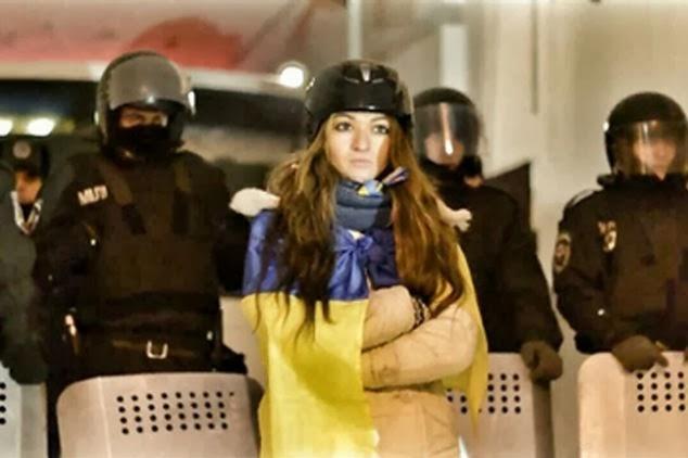 Lidia Pankiv demonstrasi