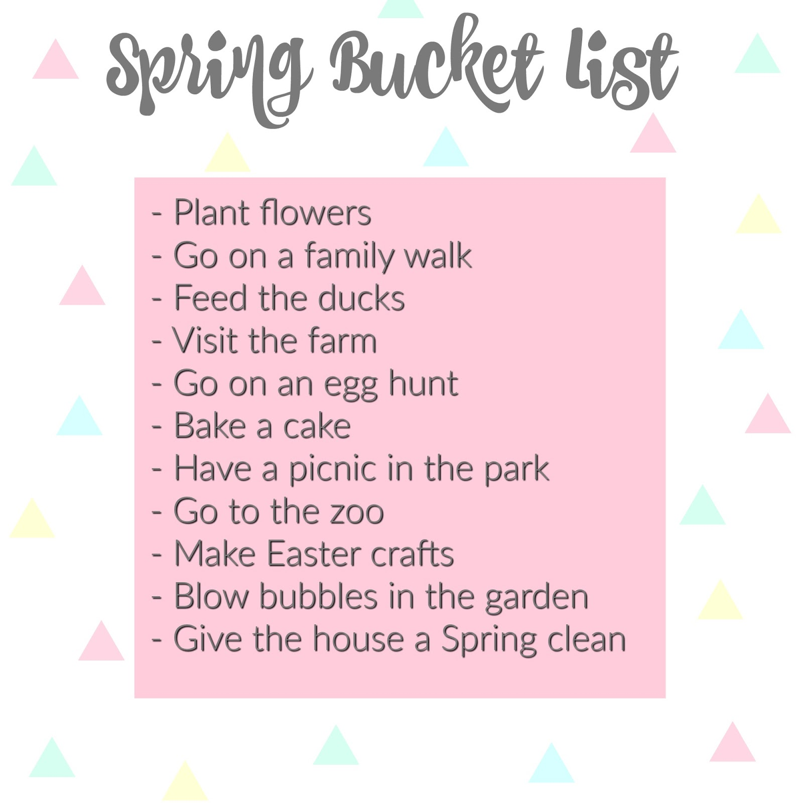 Spring Bucket List Sophie Ella And Me