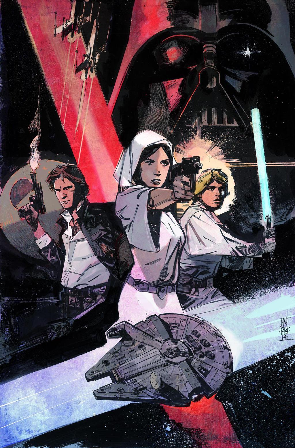 eab5fabd38af Variant cover art by Alex Maleev for  Star Wars   1