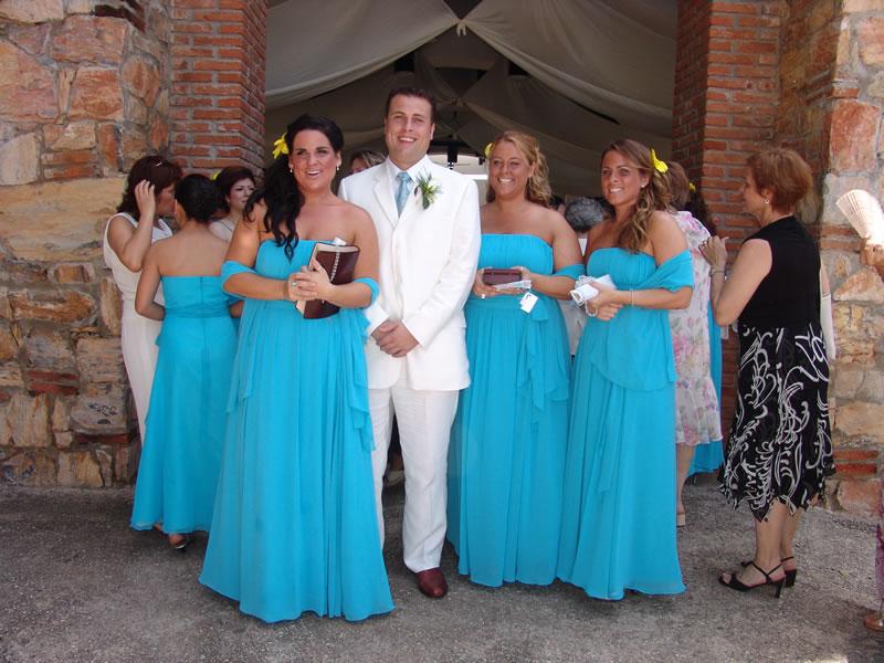 Vestidos para damas de boda azul turquesa