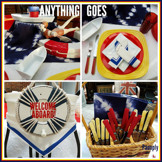 Anything Goes: Broadway Tablescape