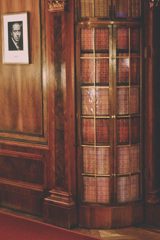 Hidden secret door disguised as bookcase