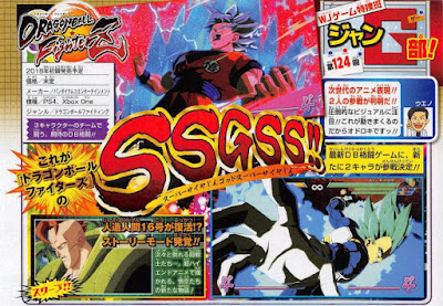 "Goku y Vegeta en Super Saiyan Blue y Androide 16 como villano en ""Dragon Ball FighterZ""."
