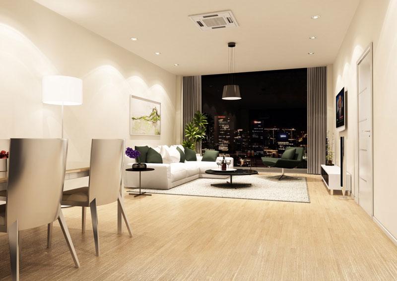 phòng khách chung cư the artemis