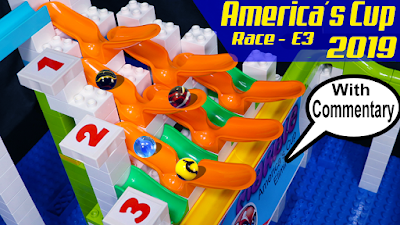 MARBLE RACE: 2019 America´s Cup - Qualifiers E3 ► Halfpipes with Funnel RACE