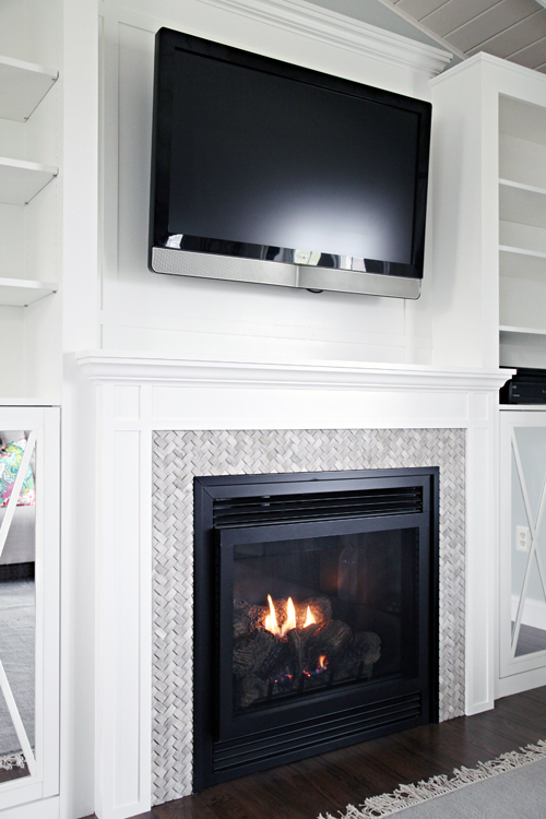 Iheart Organizing Diy Fireplace Built In Tutorial