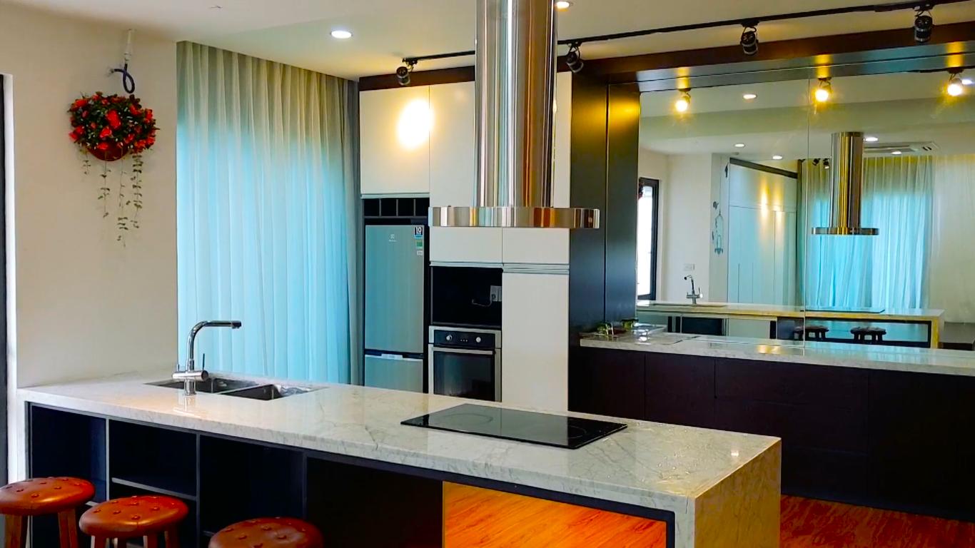 Không gian thiết kế khu bếp