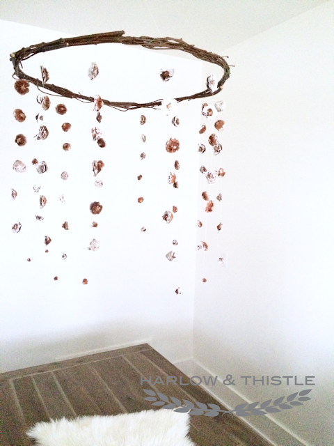 DIY Centerpiece Hanging Pinecone Harlow and Thistle 13