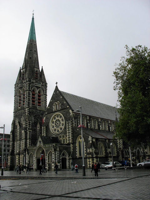 Christchurch Cathedral in New Zealand before the earthquake