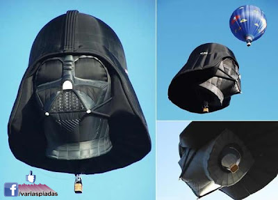 Balão do Darth Vader. Foto para Facebook.
