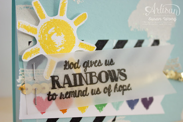 Over the Rainbow Hope card (detail) ~ Susan Wong