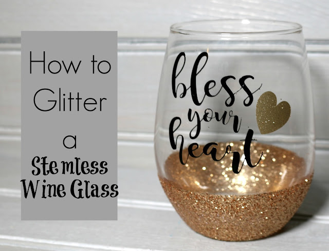 How to glitter a stemless wine glass my glittery heart How to make wine glasses sparkle