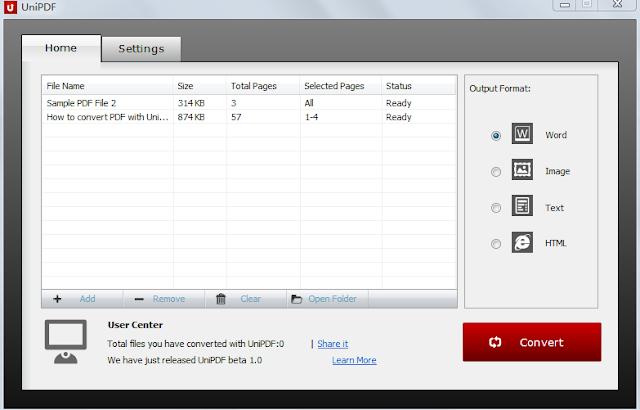 تحميل برنامج تحويل PDF الى Word مجانا UniPDF Converter
