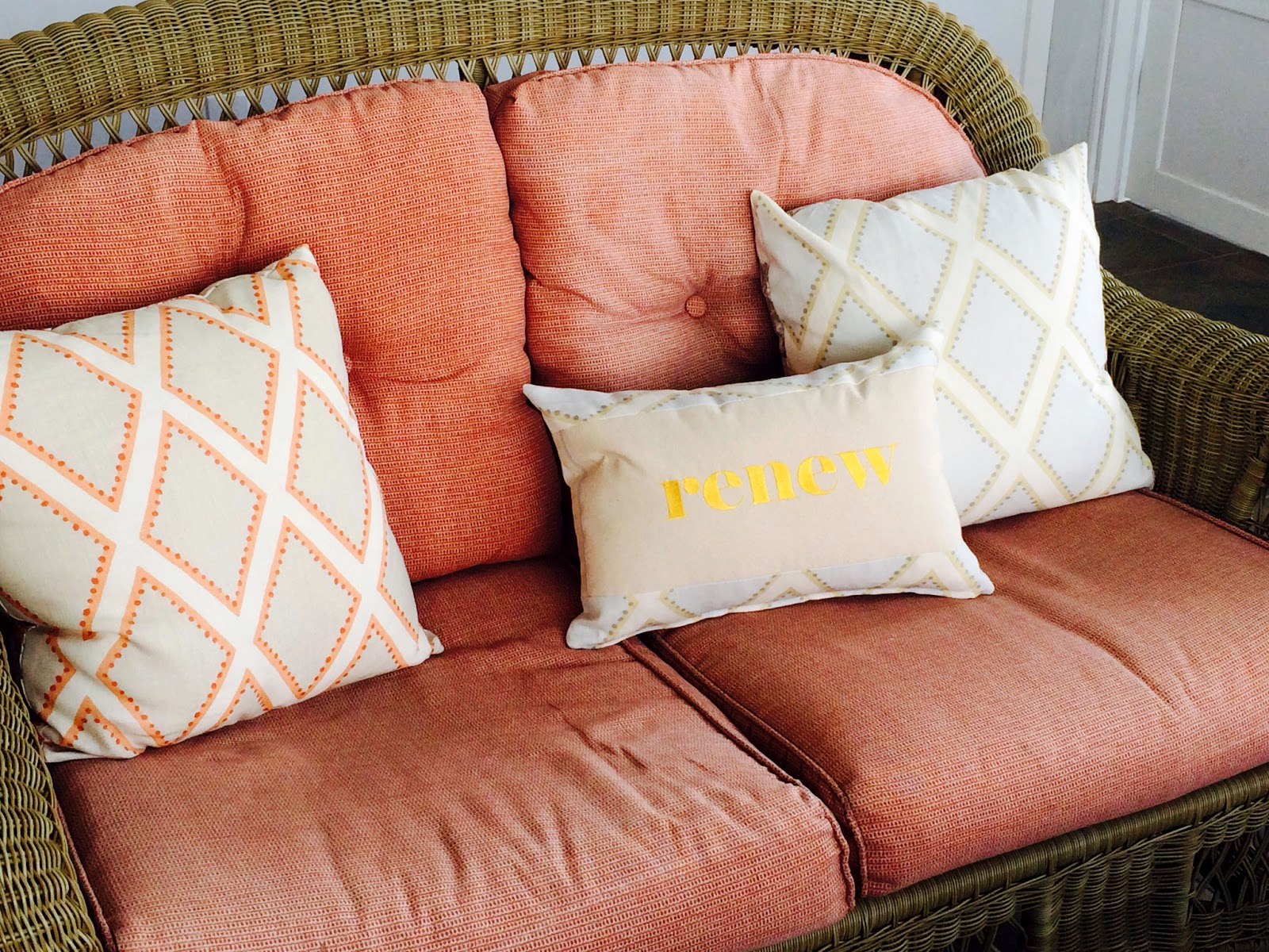 Renew Porch Message Pillow | Belinda Lee Designs | Personalized Pillows | Unify Mismatched Furniture