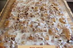Cinnamon Roll French Toast Casserole perfect for Christmas Morning