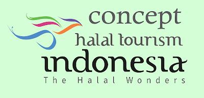 konsep logo wisata halal indonesia